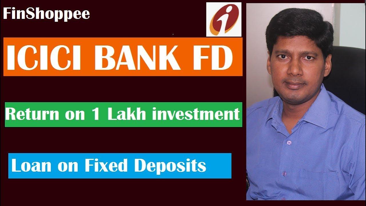 icici bank fixed deposit rates calculator