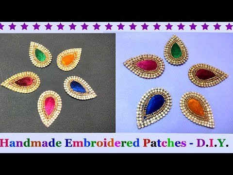 How to Make Designer embroidered Patch work at Home |Designer Saree/Blouse Patch  Making at Home-DIY