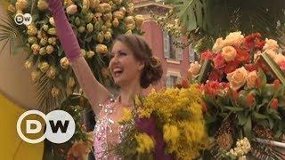 Nice'te çiçek kokuları arasında karnaval eğlencesi - DW Türkçe