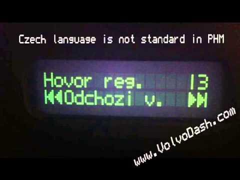 Volvo XC70 Phone Module CHANGE LANGUAGE - PHM - VDASH ...