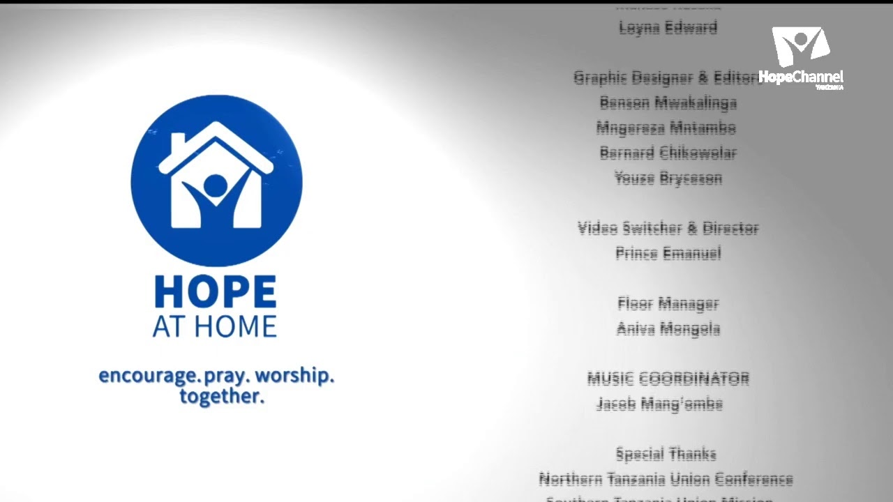 HOPE AT HOME - SABATO YA 9.5.2020