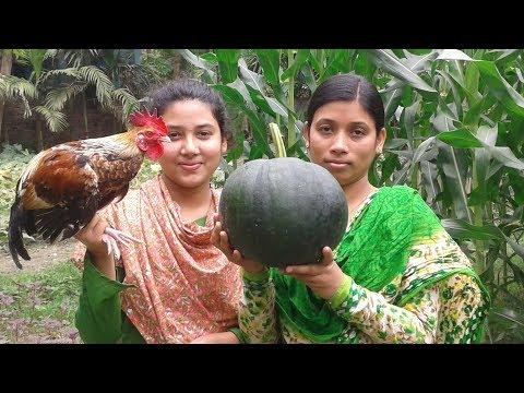 Chicken and Green Pumpkin Curry | Village Style Chicken Recipe | Cooking By Street Village Food