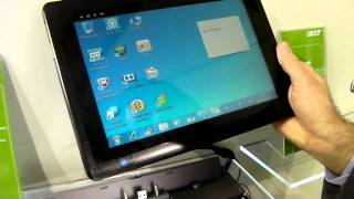 mwc 2011 acer tab w500 windows tablet preview video