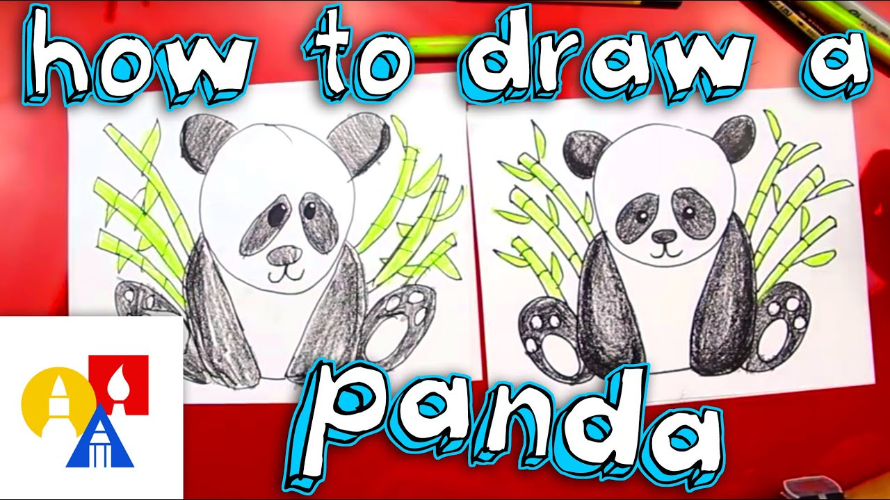 How To Draw A Panda Bear Youtube