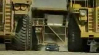 Crash (Sedan vs Biggest Dump truck & Tank)