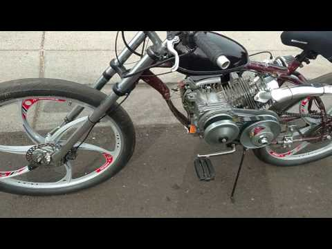 212cc motorized bicycle walkaround and riding video
