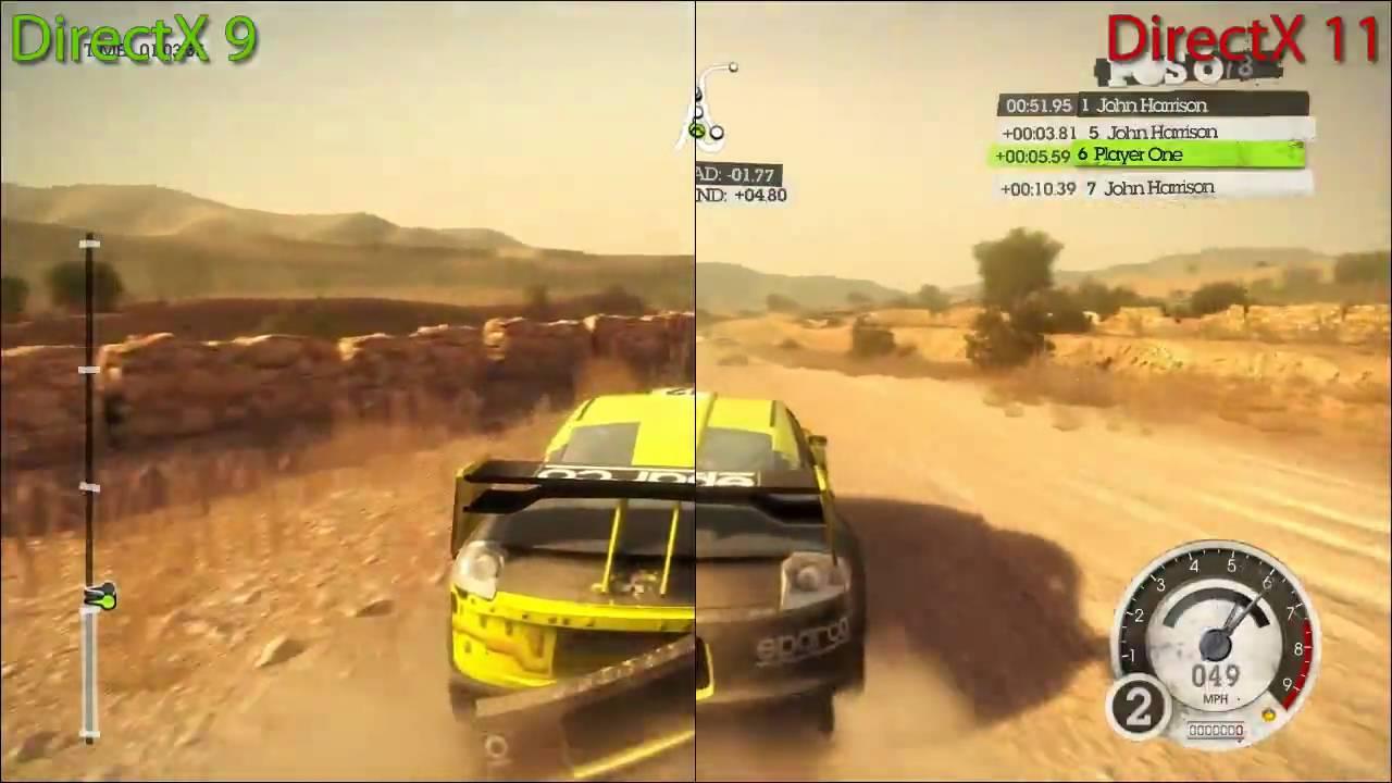 Dirt 2 - DirectX 9 vs DirectX 11 Split Screen Benchmark