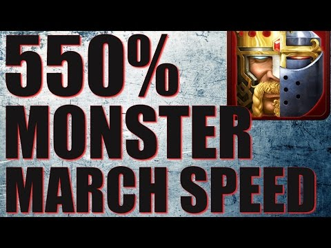 550% MONSTER MARCH SPEED IN CLASH OF KINGS