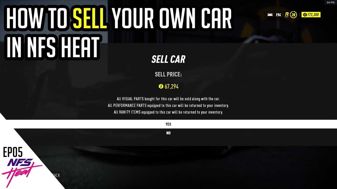 Nfs Heat How To Sell Your Car Ep05 Youtube