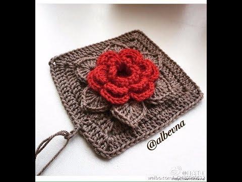 Crochet Patterns| for free |crochet blanket squares| 2276 - YouTube