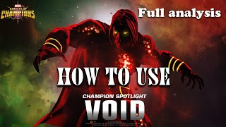 How to use Void(Full Analysis)-Marvel Contest of Champions