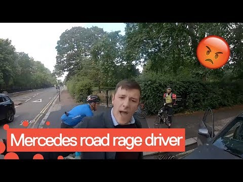 Police arrive after cyclist goes face-to-face with furious driver