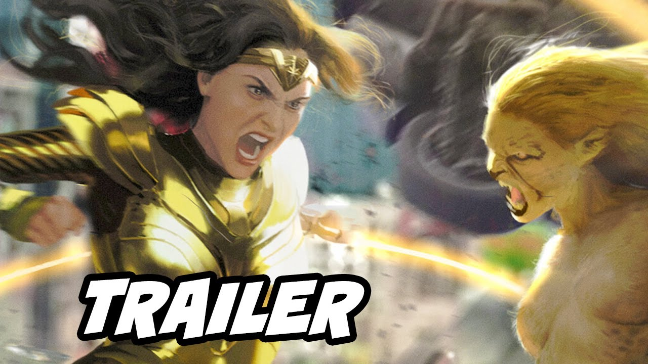 Wonder Woman 1984 Trailer - Wonder Woman vs Cheetah Breakdown and Easter Eggs DC Fandome 2020