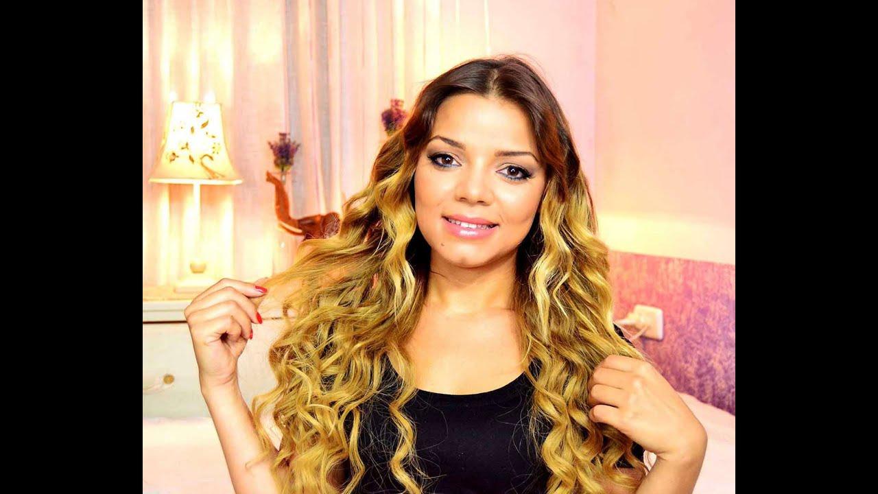 peinado rizos en zig zag con tenacilla video en castellano diarioday youtube - Peinados Con Tenacillas
