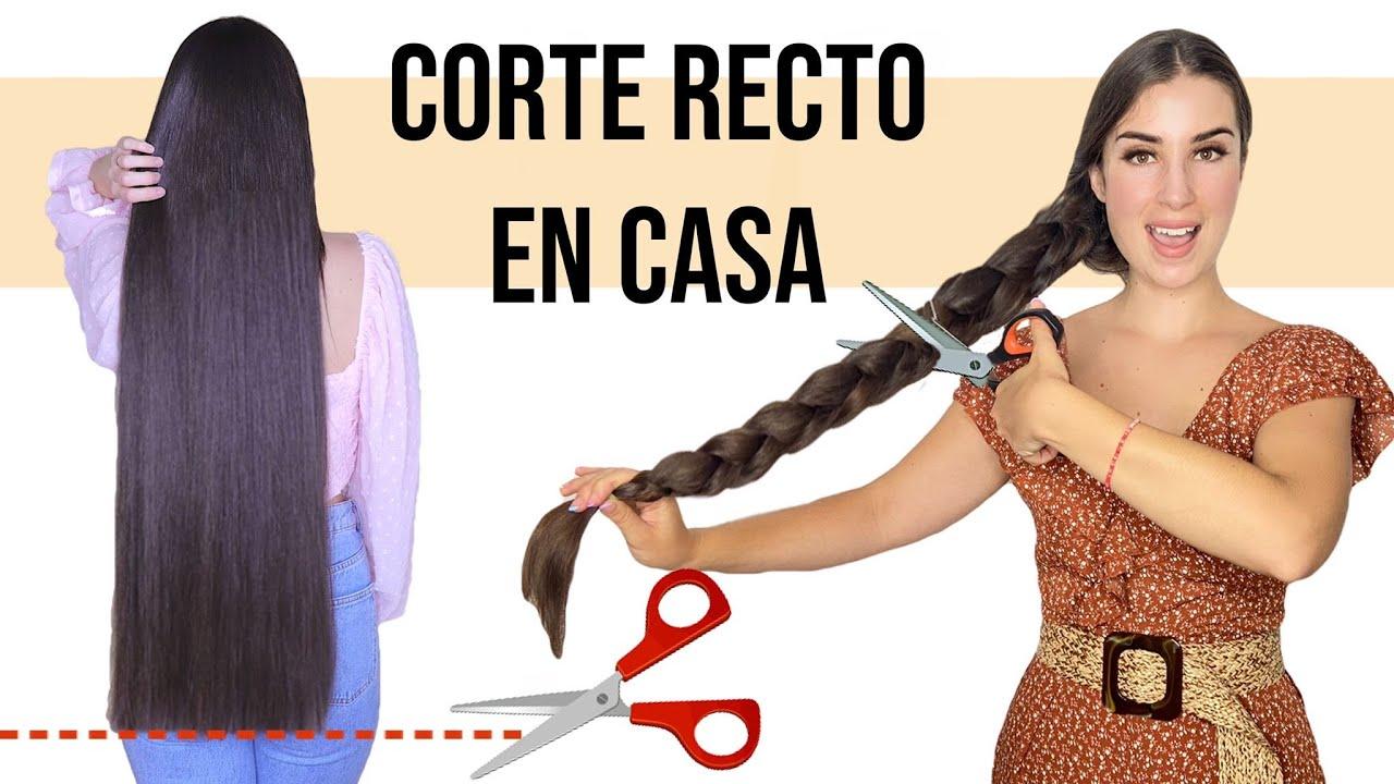 👉CÓMO CORTAR EL CABELLO RECTO EN CASA//LA MEJOR FORMA FÁCIL Y RÁPIDO!