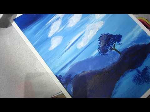 ClassPlan - Two trees acrylic blues asmr working on the cloud