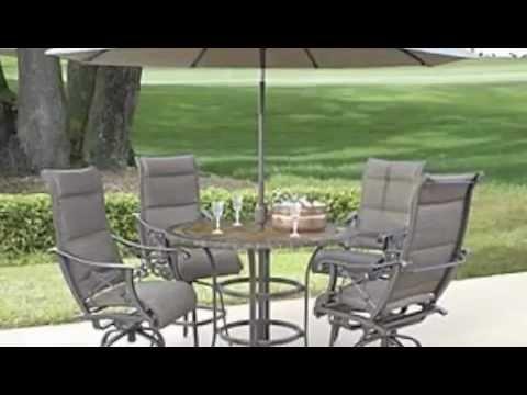 bar height patio furniture youtube. Black Bedroom Furniture Sets. Home Design Ideas