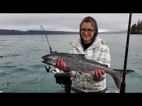 Winter King Salmon Fishing In Homer, Alaska