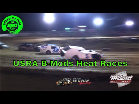 USRA B-Mods Heat Races - Malvern Bank Cash Money SuperDirt - Lebanon Midway Speedway 10-19-2019