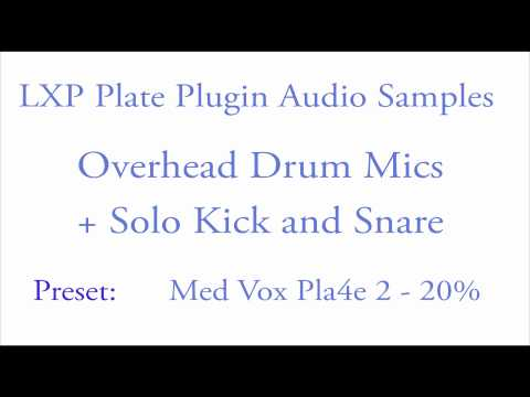 LXP Plate Plugin Drums Samples.mov