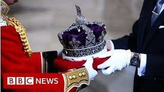Queen's Speech: The Crown arrives - BBC News