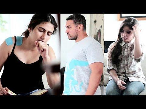 Aamir Khan, Fatima, Zaira And Other Work On Dangal | Behind The Scenes Of DANGAL