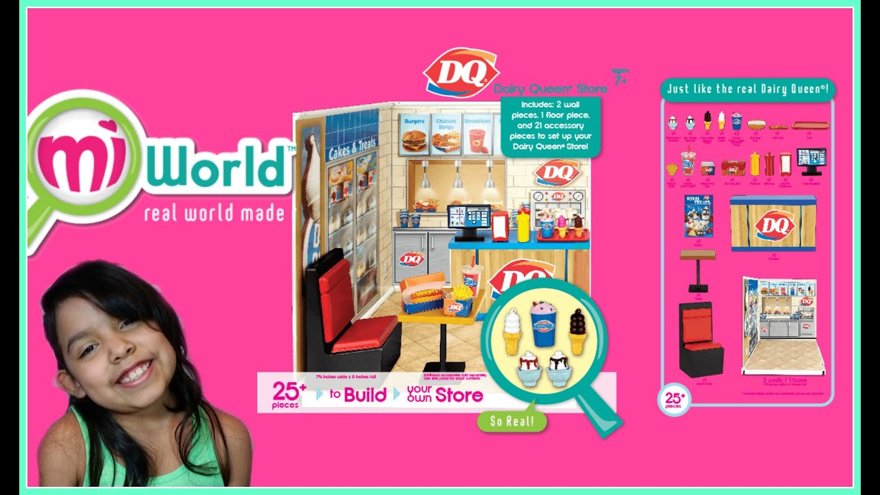 Dairy Queen Toys : Miworld dairy queen playset toy review youtube
