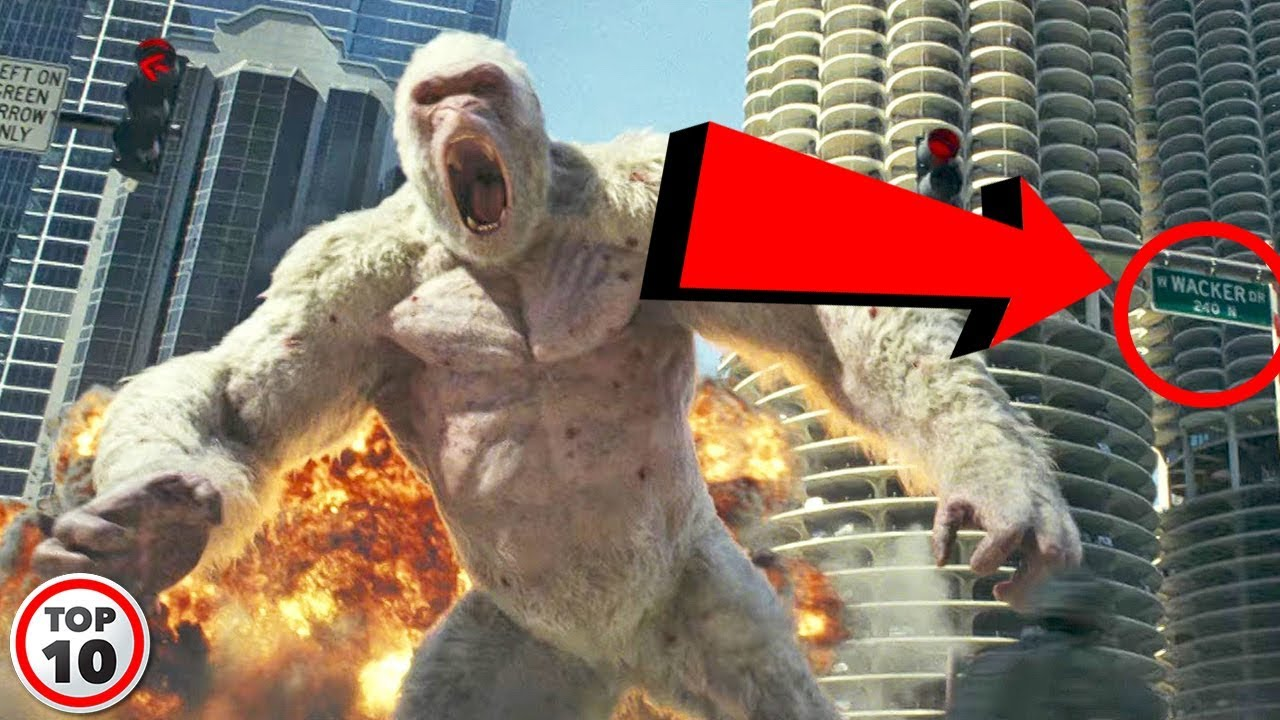 Top 10 Easter Eggs You Missed In Rampage Youtube