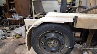 Ленточная пилорама - как сделать защиту и какие колеса лучше резиновые или металлические ?  Часть 2