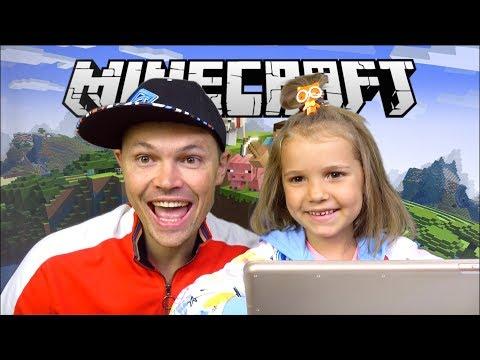 Как дети играют в майнкрафт
