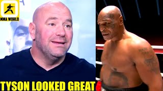 MMA Community react to the return of Mike Tyson against Roy Jones Jr. in an exhibition bout,Dana