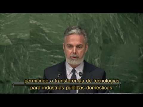 Embaixador Antonio Patriota - Assembleia Geral da ONU - 8 de junho