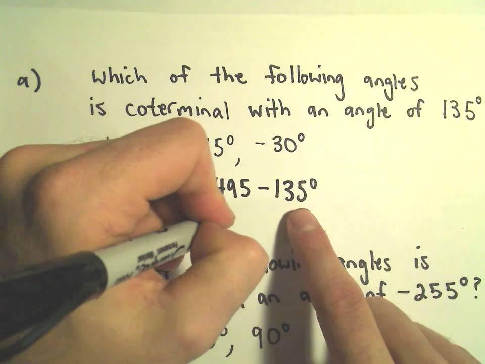 Coterminal Angles Example 1 Youtube