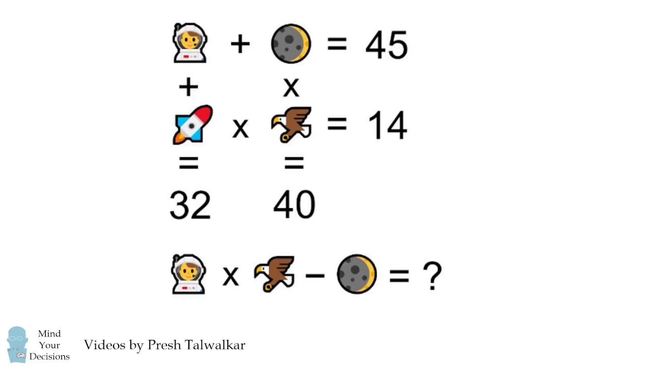 Solving NASA's Emoji Puzzle – Mind Your Decisions