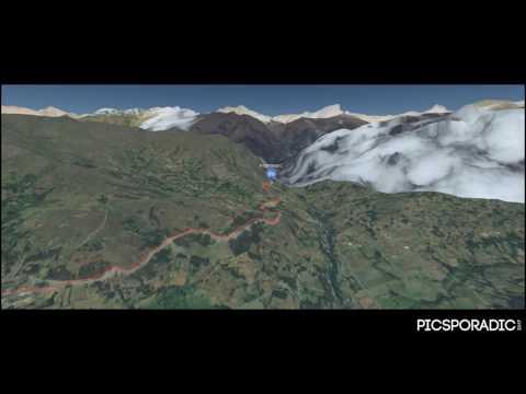 Huascaran Pass Digital Map - Peru