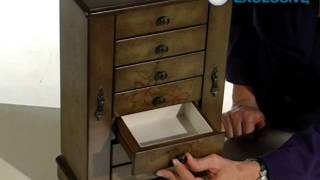 Addison Hand Painted Wooden Jewelry Box 10 6w X 16h In - Product Review Video