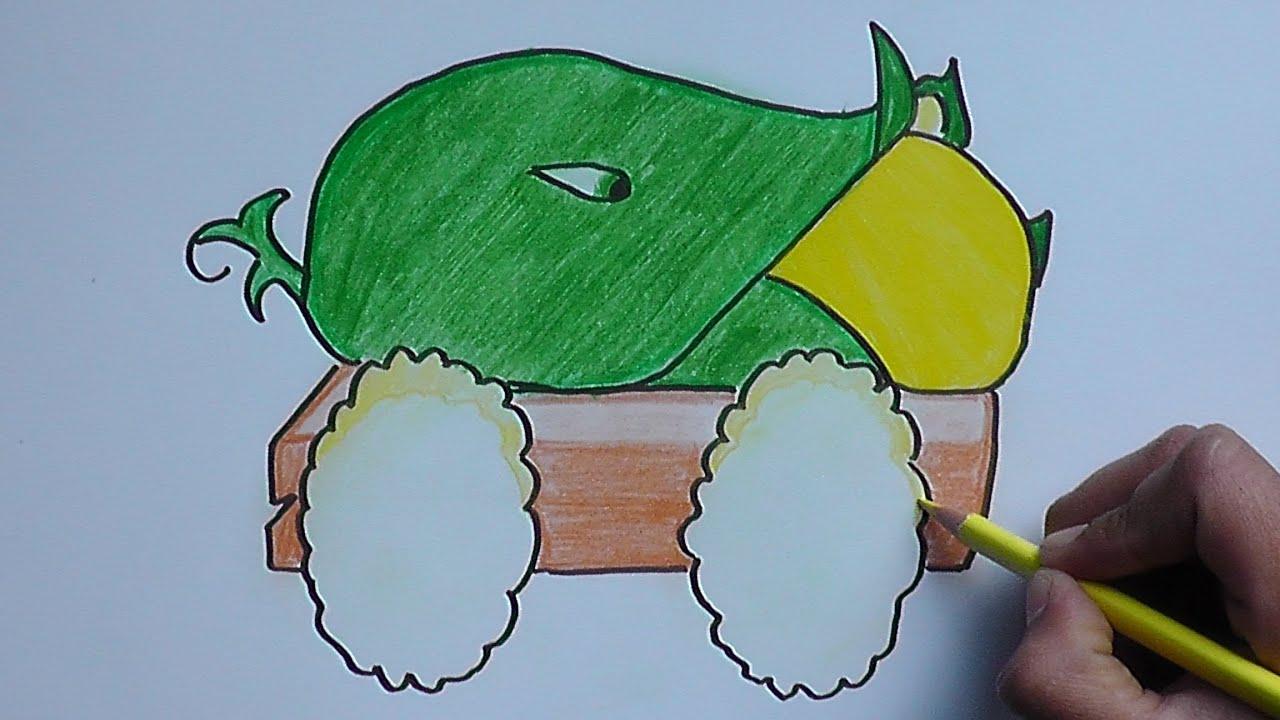 Como Dibujar A Un Pomelo De Pvz: Dibujando Y Pintando A Masorcañon (Plantas Vs Zombies