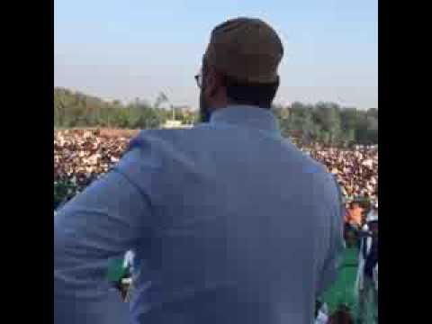 Today's Speech Part2 Br Asad Uddin Owaisi Sahab addressing Public Meeting  Pachperwa_Constituency Ba