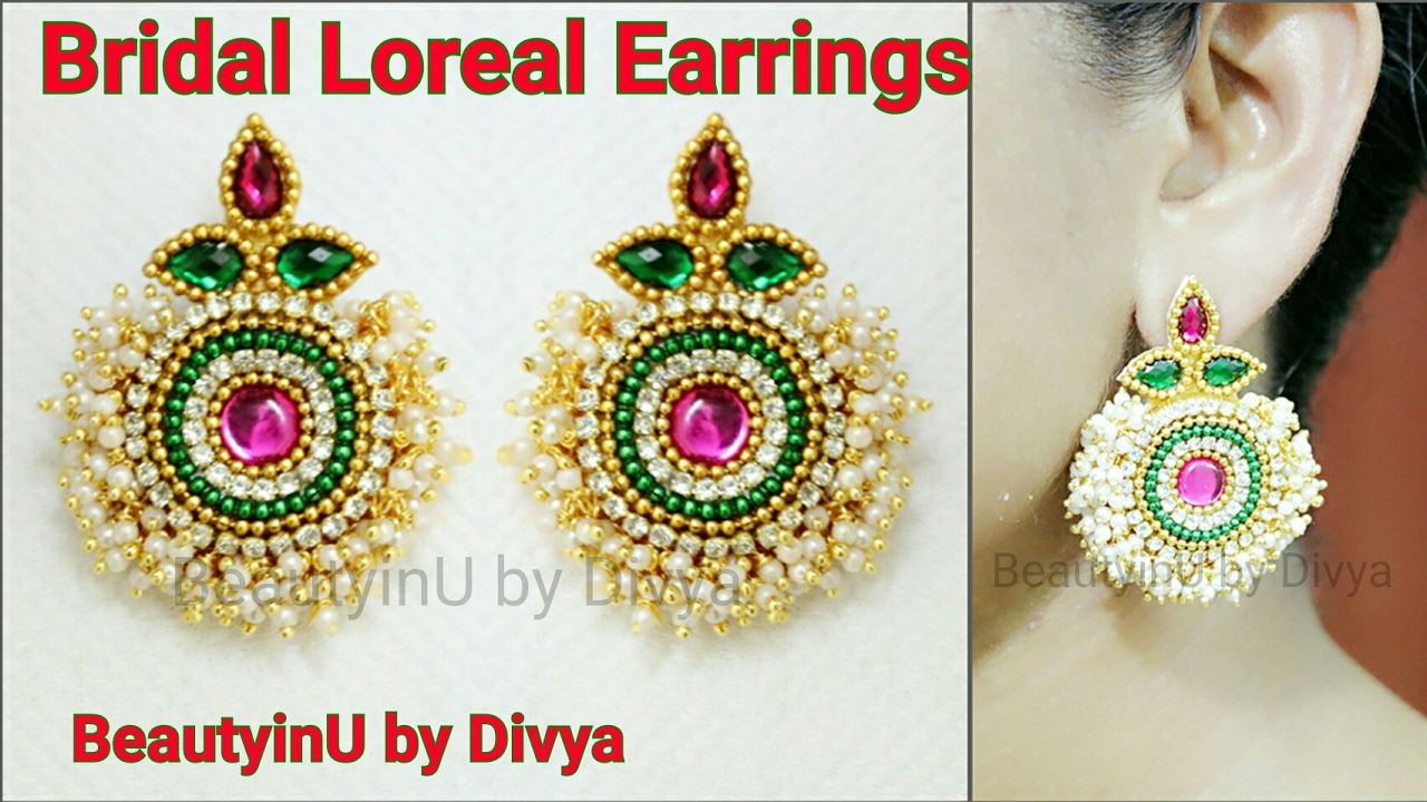 jhumka thread chandbali to tutorial with how earring watch silk earrings attach youtube