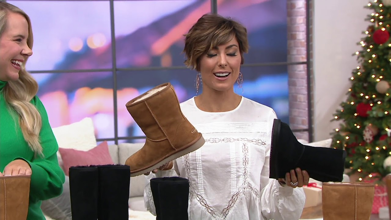 9833e9859b Koolaburra by UGG Choice of Suede Tall or Short Boots - Koola on QVC ...