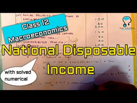 Class 12 Macroeconomics (National Disposable Income) National income accounting
