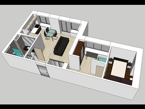 Дизайн-проект двухкомнатной квартиры. Законная перепланировка.