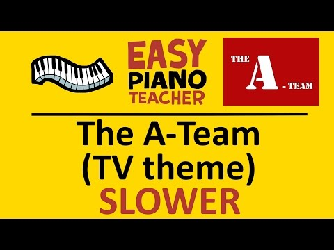 "How To Play ""The A-Team"" TV Theme: EASY Piano Song! (SLOW Keyboard Tutorial With Note Names) #EPT"