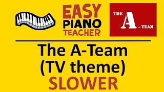 easy piano songs how to play the a team tv theme slow keyboard tutorial note by note