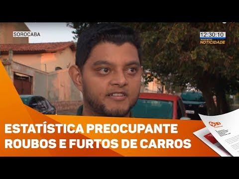 Estatística preocupante: roubos e furtos de carros em Sorocaba - TV SOROCABA/SBT