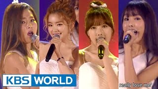 Irene & Seulgi & Yerin & Yuju - I Don't Know What Love Is Yet [2015 KBS Song Festival / 2016.01.23]