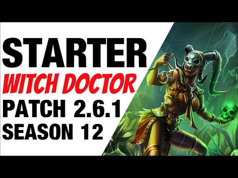 Patch 2.6.1 Witch Doctor Starter Build Season 12 Diablo 3