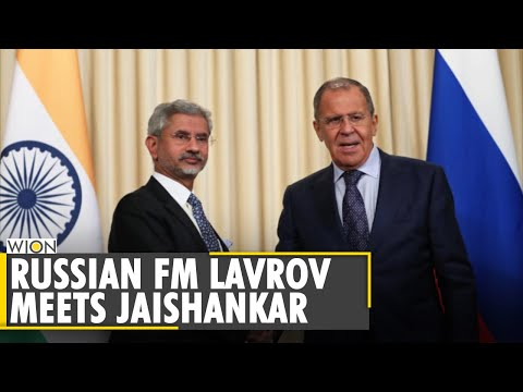 Russian foreign minister Sergey Lavrov meets Indian counterpart Jaishankar  English World News  WION