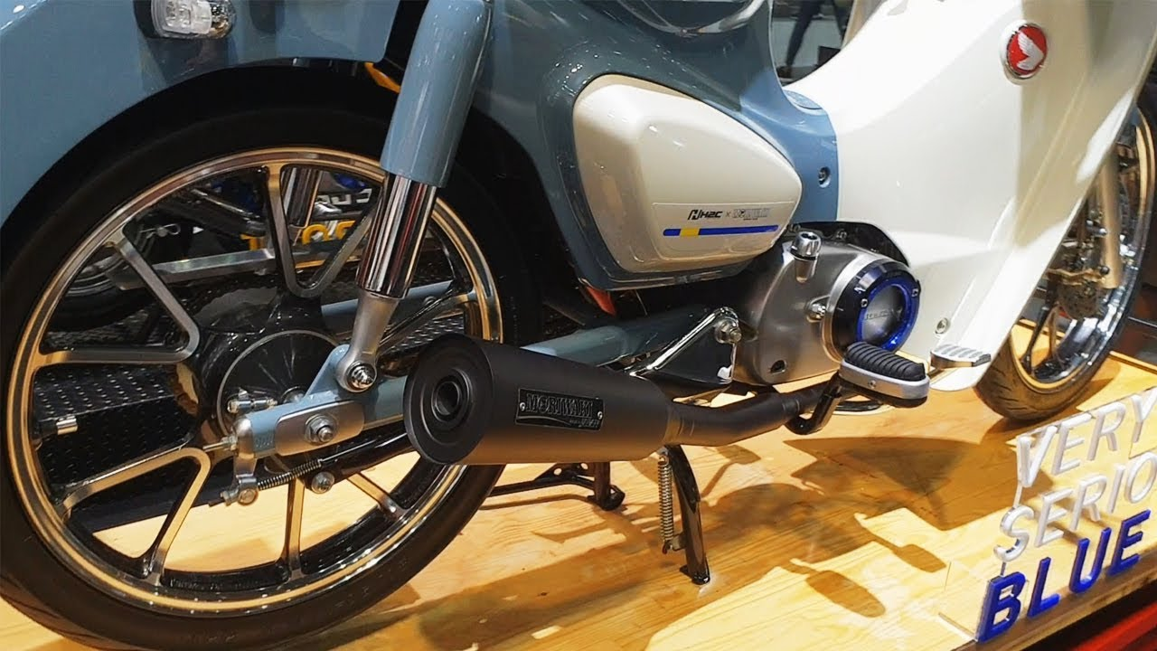 Honda Super Cub C125 H2C Accessories Very Serious Blue