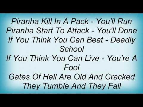 Six Feet Under - Piranha Lyrics